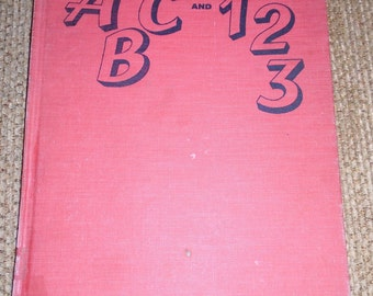 Vintage ABC And 123 Book