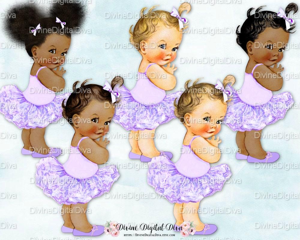 Princess Ballerina Lavender Tutu Vintage Baby Girl 3