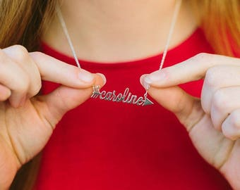Arrow Name Necklace personalized name