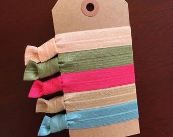 Spring Basics Hair Tie Set- Emi Jay Inspired- Set of 5