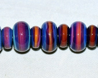 Handmade Borosilicate Silver glass spacer beads.