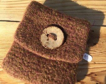 Small felted coin purse or keepsake pouch.
