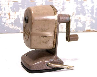 Pencil Sharpener Berol Made In USA VIntage Office Manual Suction Mounting 1950s Office Decor Danbury Conn