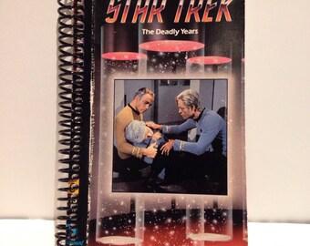 Recycled Star Trek VHS Spiral Notebook