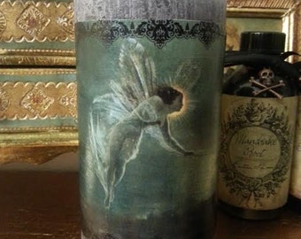 """My Fairy"" candle with stand"