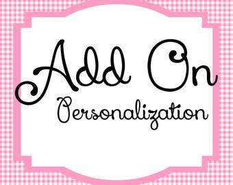 Add On Personalization
