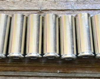 New .45 Caliber Nickel Shell Cases, (25) Nickel Shell Cases, Silver Shell Cases, New Shell Cases, Bullet Jewelry Supplies, Reloading Brass