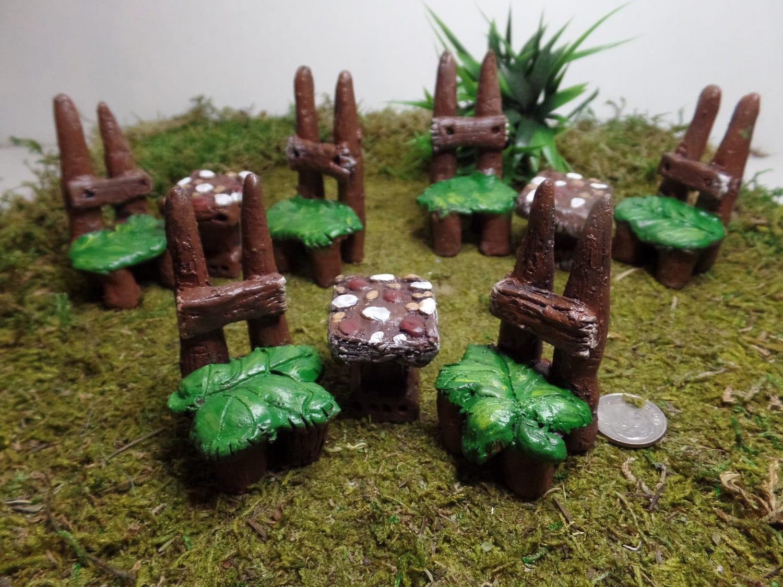 Miniature furniture fairy furniture set terrarium kit for Indoor gardening accessories