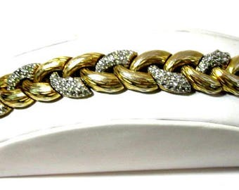Beautiful Designer Signed Ciner Pave Rhinestone Bracelet Vintage