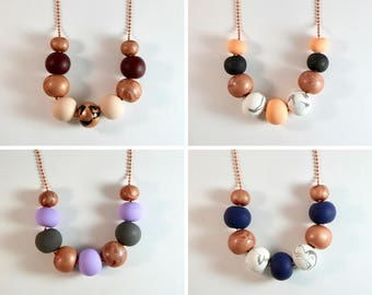 HARPER Clay Necklace - Coppers