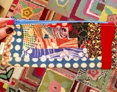 Zipper Pouch 101 - KIT (or finished pouch) #3 - Silky Log Cabin Pattern