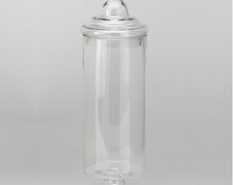 """21"""" Tall Apothecary Glass jar- candy bar- candy jar with lid. candy bar."""