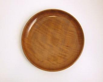 Vintage House of Myrtlewood Large Serving Tray Platter Shallow Bowl - Rustic Boho Serving Hand Crafted in Coos Bay Oregon