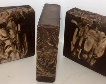 Chocolate Scented Handmade Soap Bar, warm scented soap, Chocolate bar holiday soap bar