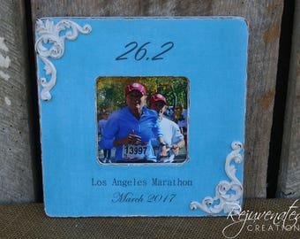 Personalized frames marathon runners 26.2 13.1 5k 10k half marathons