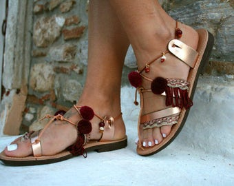 leather handmade sandals
