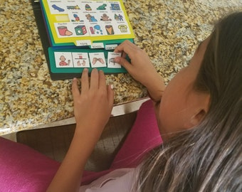 1 New Book plus 156 Pecs Cards Communication Aid Kit for Autism, Apraxia, Aspergers, Speech Therapy, ABA, ASD, ADHS, Spectrum & Disabilities