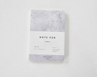 Marble Notebook, Sketchbook, Hardcover Journal, Personal Notebook, Planner Notebook - Marble Grey