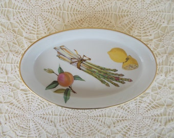 Royal Worcester, Evesham Pattern, Fine Gold Porcelain, Made In England,  1980s,