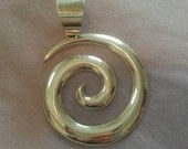 RESERVED for Marilyn Large Sterling Silver Native American Indian Spiral Pendant For Necklace Navajo