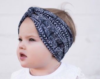 Kids Headband, Kids Turban headband,mudcloth, mudcloth print, winter,kids accessory, winter headband baby, newborn, Kids Turban in Mudcloth