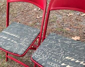 Upcycled Folding Chairs