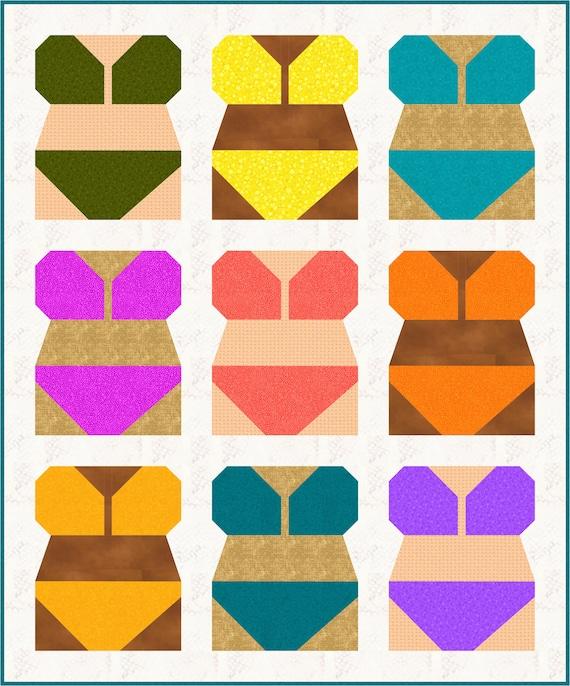 Bikini Quilt Pattern Pdf Instant Download Bathing Suit