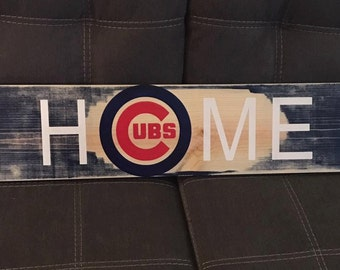 Cubs Home hand painted sign.