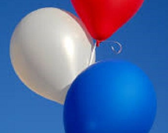 "American Ninja Warrior Party Balloons - Red White and Blue 12"" Latex Balloons - American Ninja Birthday Balloons - Party Balloons"