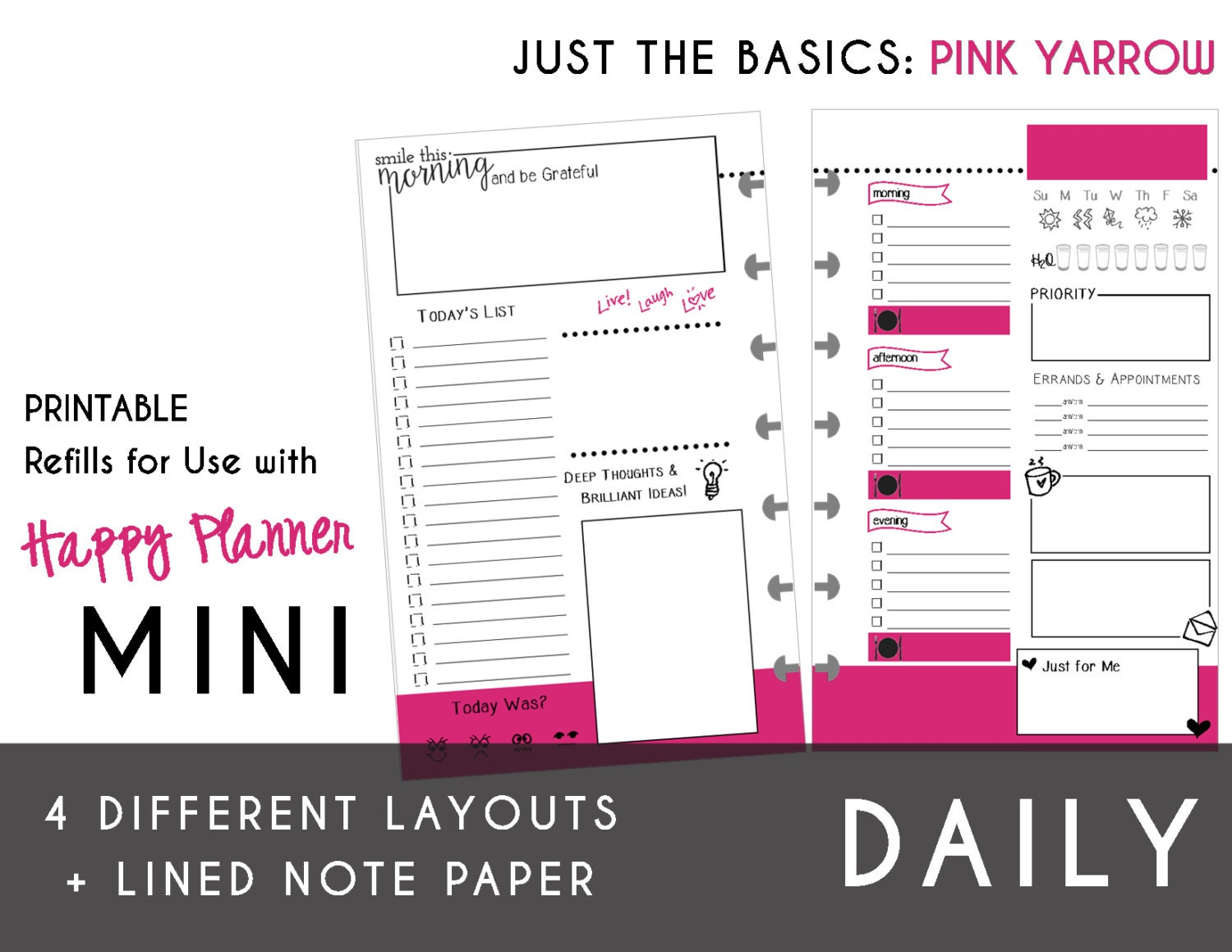 It is a photo of Luscious Free Mini Happy Planner Printable Inserts
