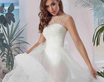 Bridal Dress - Alia Wedding Stunning Lace Dress - Long Wedding Dress - Elegant Wedding Dress - Simple Wedding Dress - Abito da Sposa