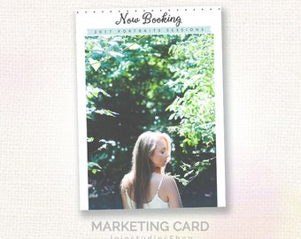 Photography Marketing Board - 2017 Marketing Card - Photoshop template - 008 INSTANT DOWNLOAD