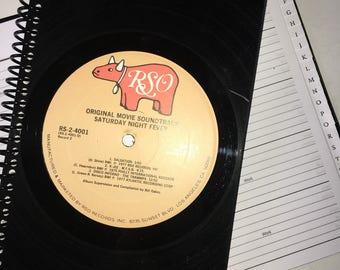 Saturday Night Fever Vinyl record address book