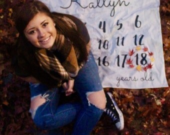 Personalized senior picture backdrop, 18 birthday backdrop