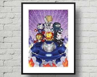 Marvel, Iron Legion, Iron man, Superhero, Digital Illustration, Print, Art Poster, Comic, Home Wall Art Decor, Birthday Gift, Christmas Gift