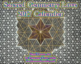 Sacred Geometry Love 2017 Calendar SALE