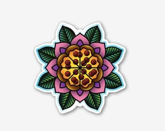 Pizza Flower - Sticker