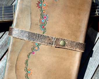Musician Blank Staff / Manuscript Leather Journal / Music Journal Made in Australia