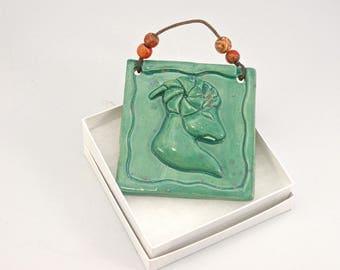 Pottery plaque Zodiac Aries birthday present March 21 - April 20