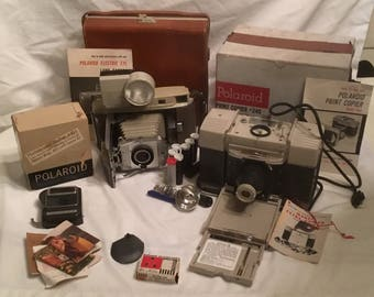 Vintage Polaroid Model 800 J66 Land Camera Kit and Copier