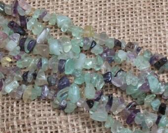Fluorite Chip Beads - 34 inch strand - Item B0700
