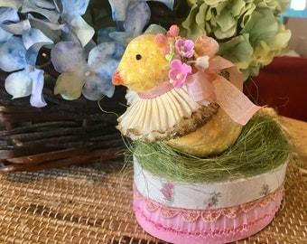 Sweet, Ooak, Vintage Style, Easter Treat Box