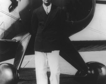 Howard Hughes, 1940's, Boeing Pursuit Plane, Photo