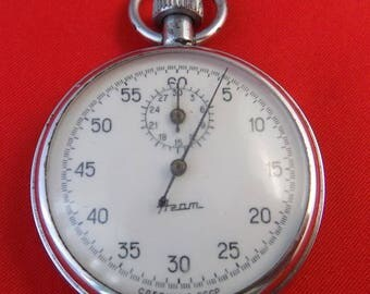 Vintage Military stopwatch and chronometer AGAT Made in USSR k349