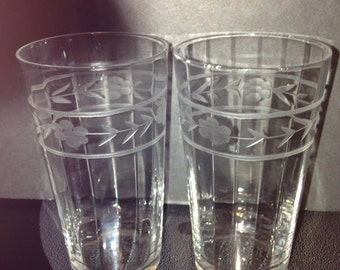 Set of Three Vintage Petite Juice Glasses