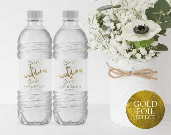 Wedding Water Bottle Label Printable Water Bottle Label