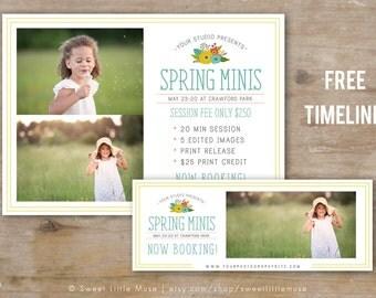 Spring Mini Session Template - mini session template - photography marketing template - Spring Minis