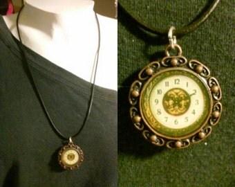 "18"" Steampunk Style Necklace with 2"" chain extender-version 1 handmade-steampunk-accessories-fashion-retro-necklace-women's-hippie-goth"