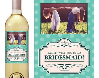 Custom Bridesmaid Proposal Gift - Bridesmaid Wine Bottle Label - Asking Bridesmaid - Will you Be My Bridesmaid Gift