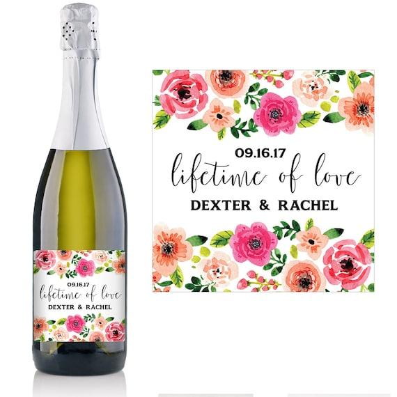 Wedding Champagne Label - Wedding Favor Ideas - Personalized ...